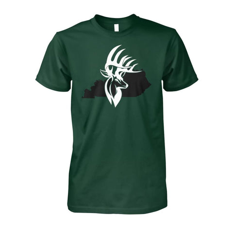Bucks of Kentucky - Adult Tee - Kentucky with Buck Unisex Cotton Tee - Bucks of America