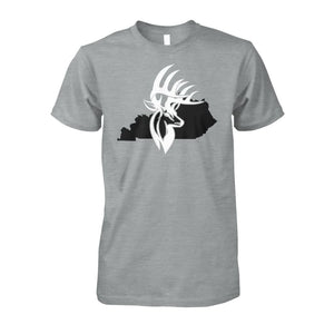 Bucks of Kentucky - Adult Tee - Kentucky with Buck Unisex Cotton Tee