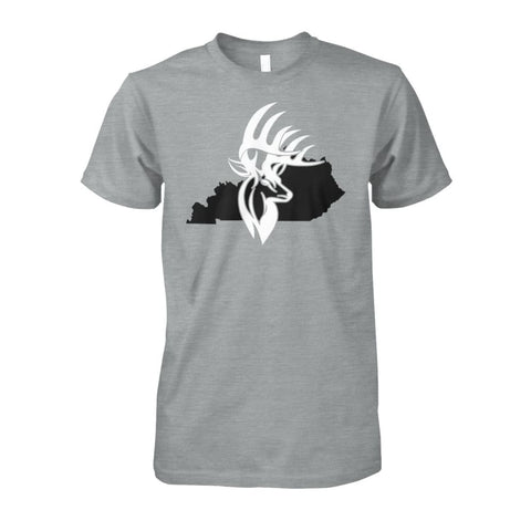 Image of Bucks of Kentucky - Adult Tee - Kentucky with Buck Unisex Cotton Tee - Bucks of America