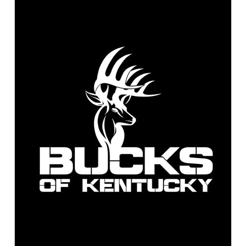 Bucks of Kentucky Full Logo Decal - White - Bucks of America