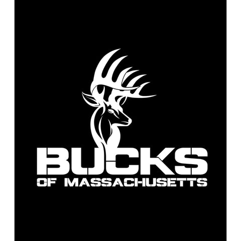 Bucks of Massachusetts Full Logo Decal - White - Bucks of America