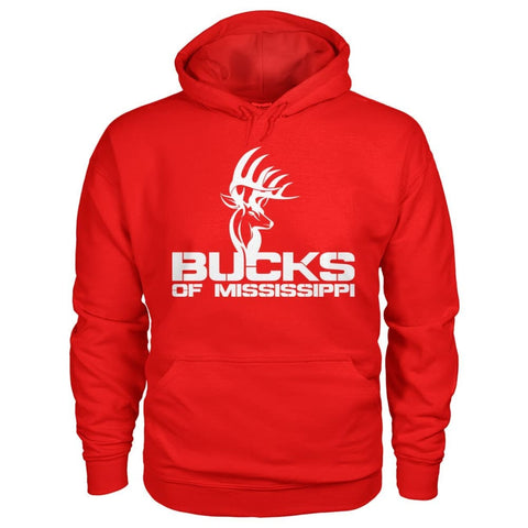Image of Bucks of Mississippi Logo Gildan Hoodie - Bucks of America