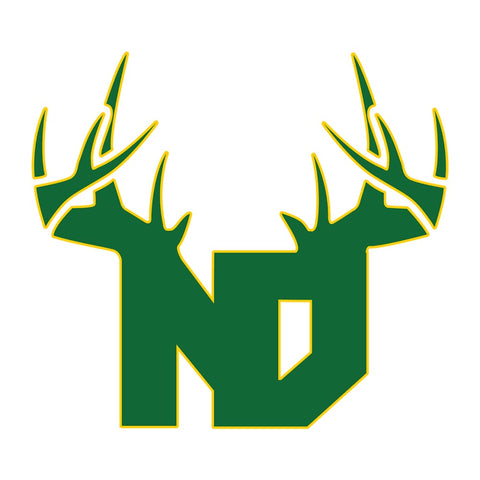 Bucks of North Dakota Decal - Green & Yellow - Bucks of America