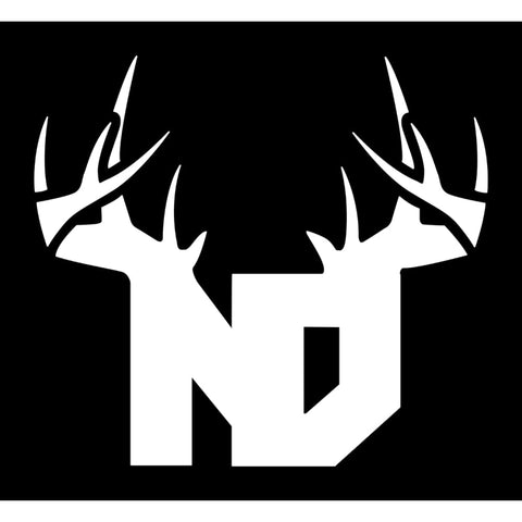 Bucks of North Dakota Decal - White - Bucks of America