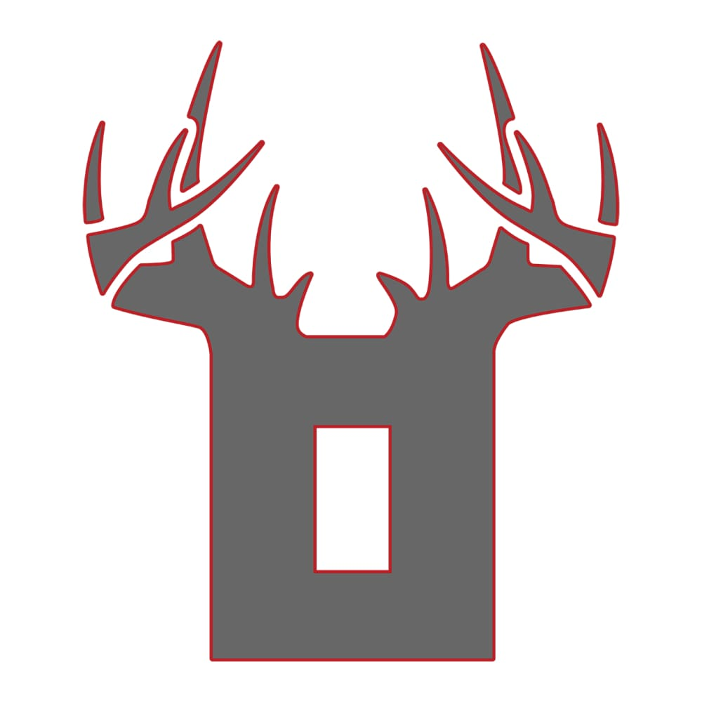 Bucks of Ohio Decal - Grey & Red - Bucks of America