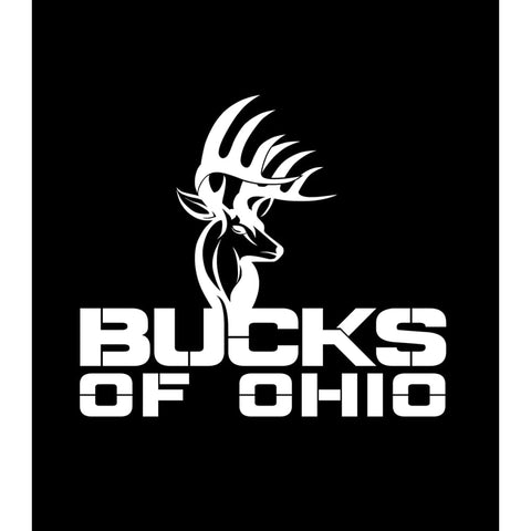 Bucks of Ohio Full Logo Decal - White - Bucks of America