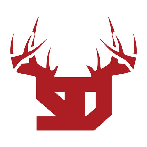 Bucks of South Dakota Decal - Red & White - Bucks of America