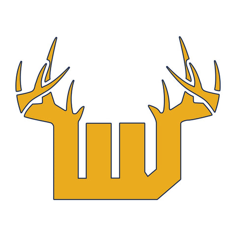Bucks of West Virginia Decal - Gold & Blue - Bucks of America