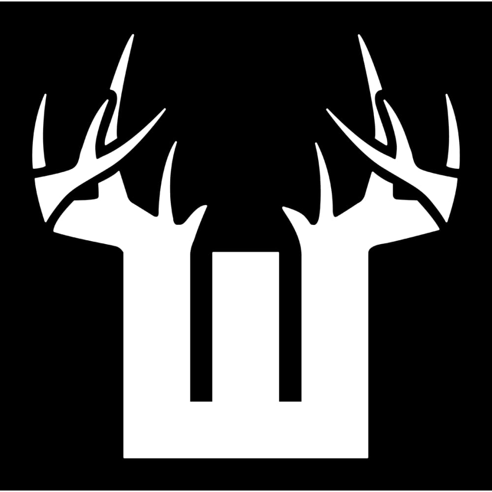 Bucks of Wyoming Decal - White - Bucks of America