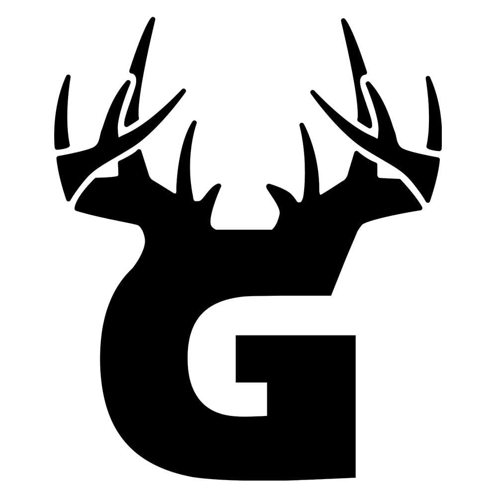 G Antler Decal - Black - Decal