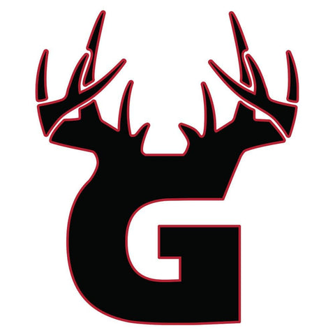 G Antler Decal - Black/Red - Bucks of America
