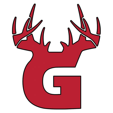 G Antler Decal - Red/Black - Bucks of America