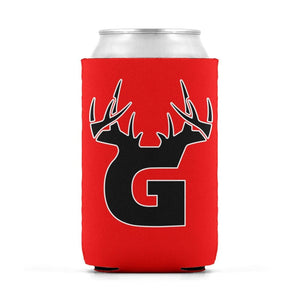 G Antler White/Red Can Koozie Can Sleeve - Bucks of America