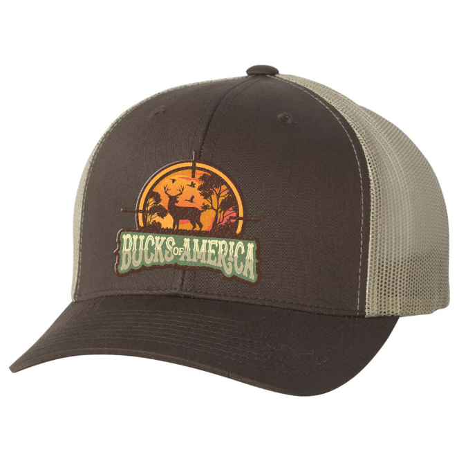Bucks Of America Brown & Khaki Hat - Bucks of America