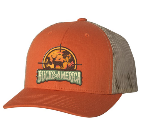Bucks Of America Orange & Khaki Hat - Bucks of America