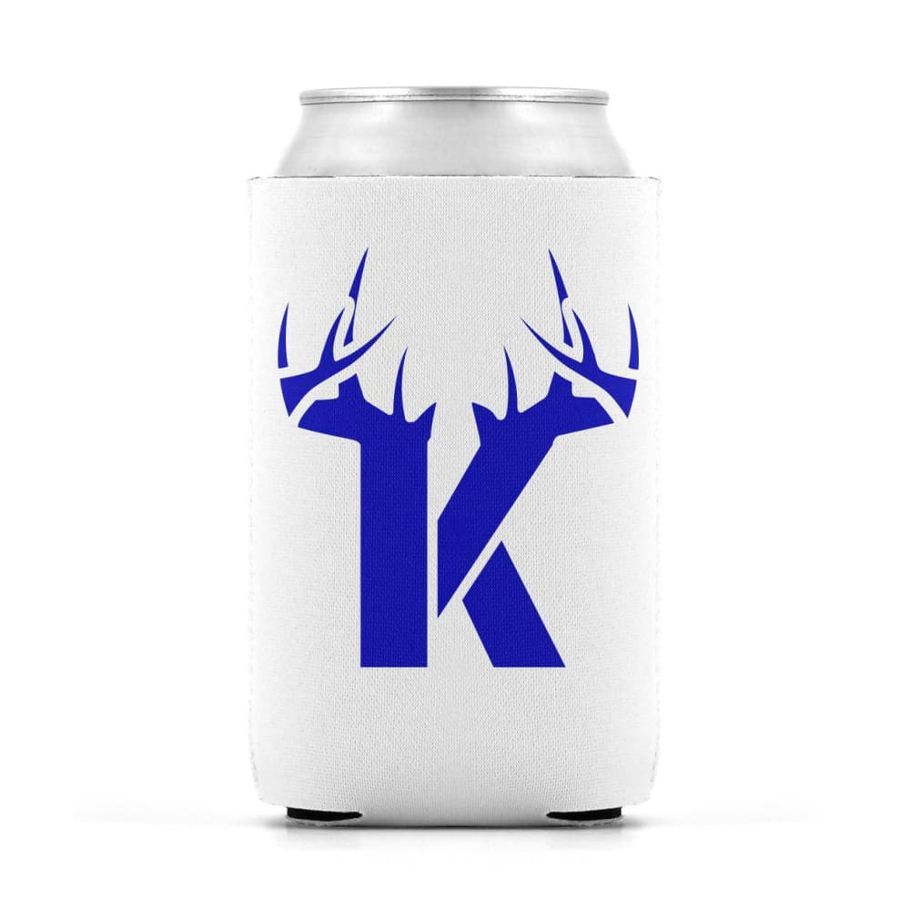 K Antler Blue Can Koozie Can Sleeve - Drinkware