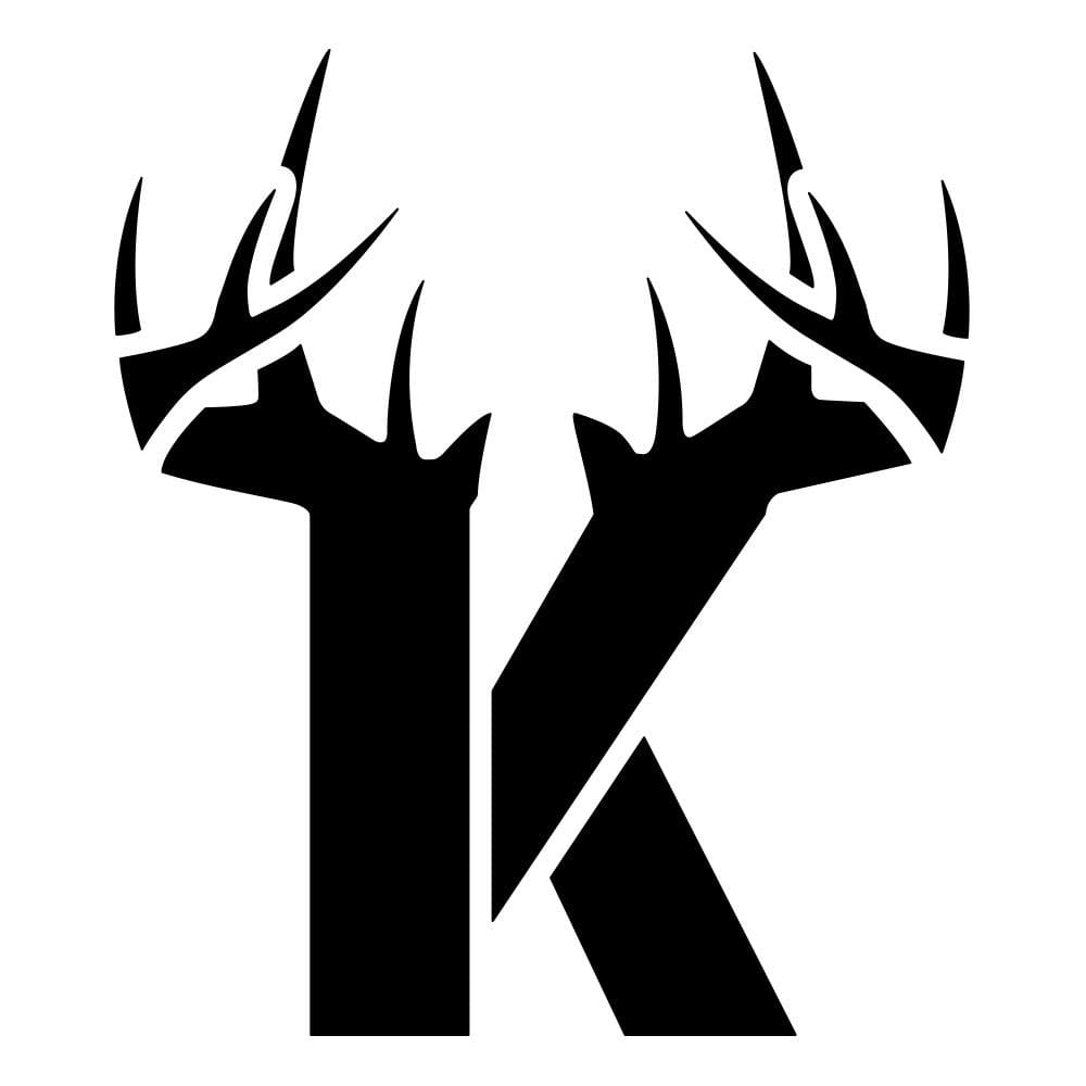 K Antler Decal - Black - Bucks of America