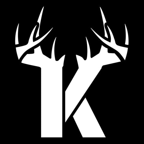 K Antler Decal - White - Bucks of America