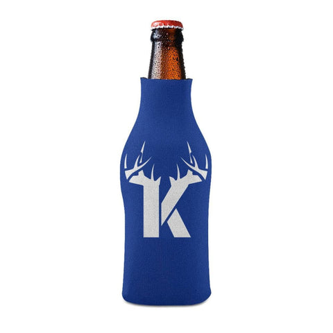 K Antler White Bottle Koozie Bottle Sleeve - Drinkware