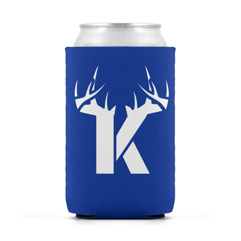 K Antler White Can Koozie Can Sleeve - Drinkware