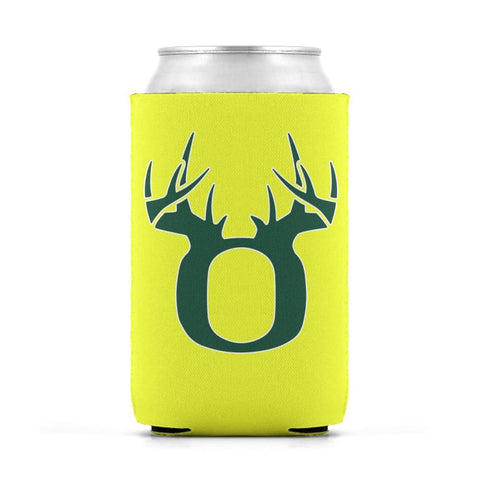 O Antler White/Green Can Koozie Can Sleeve - Drinkware