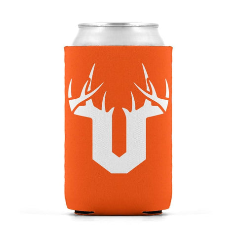 V Antler White Can Sleeve - Drinkware