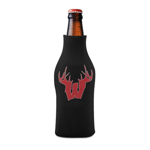 W Antler Red Bottle Koozie Bottle Sleeve - Drinkware