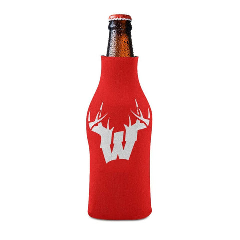 W Antler White Bottle Koozie Bottle Sleeve - Drinkware
