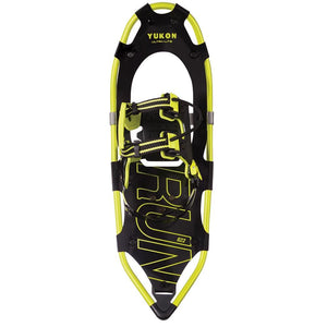"YUKON RUN Series Showshoe 8"" x 22"" - Black-Yellow - 225lbs Weight Capacity - Bucks of America"