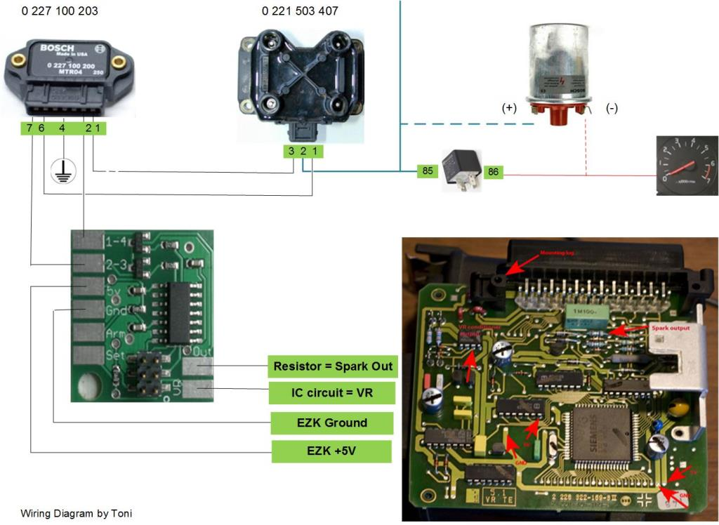 Figure 6. Here's a nice wiring diagram for one suggested setup. This was made by one of our customers, Toni.