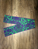 Green and purple paisley