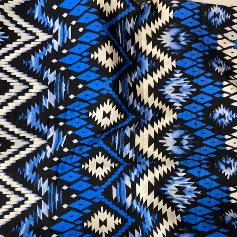Blue & Black Aztec
