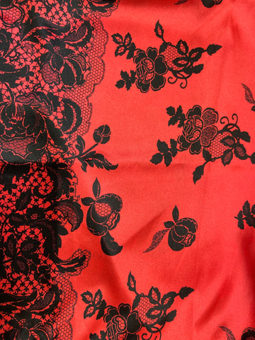 Red Lace Floral