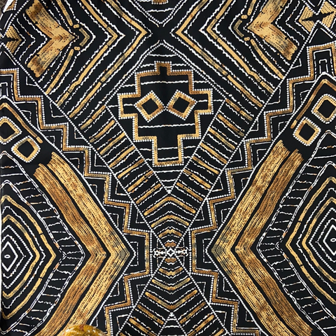 Black & Gold Aztec