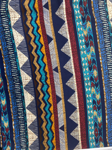 Blue Multi Aztec