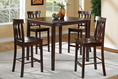 Chocolate Counter Height Dining Set