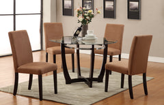 Round Glass Top Dining Set