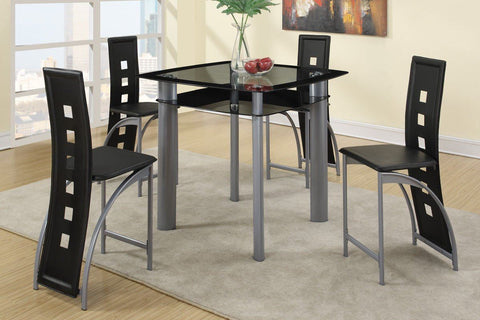 Counter Height Glass Top Dining Set