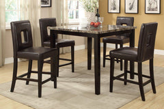 Faux Marble Top Counter Dining Set