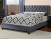 Image of Faux Leather Upholstered Bed