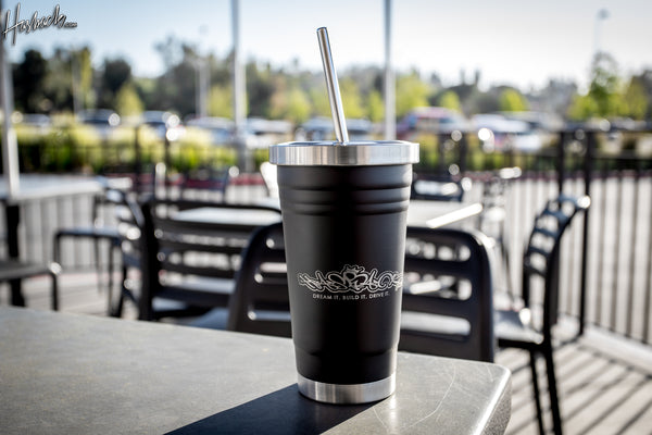 20 oz.  Stainless Steel Tumbler w/Straw