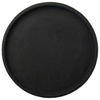 Black concrete round tray