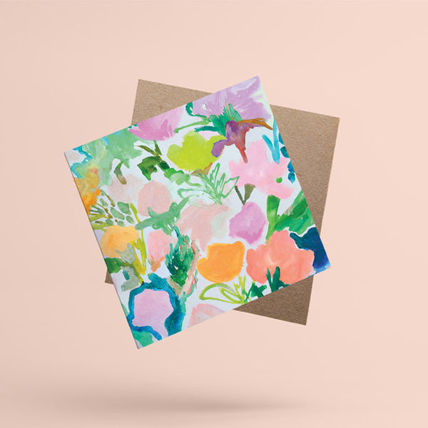 'Bouquet' blank greeting card