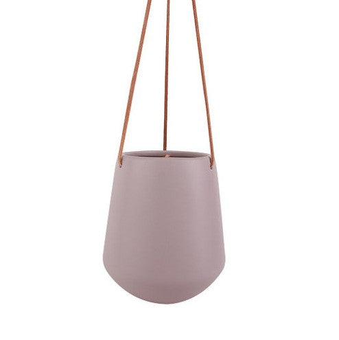Large blush hanging pot