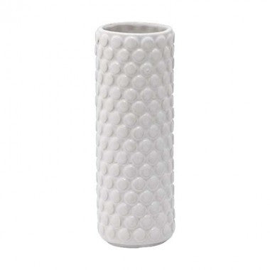 White ceramic bubble vase