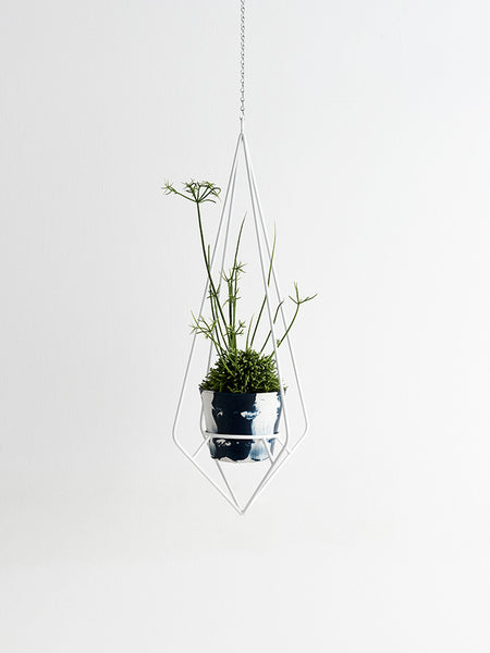 COMING SOON White diamond hanging plant holder