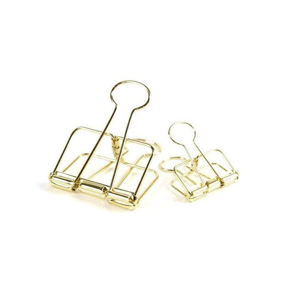 Large gold bulldog clip