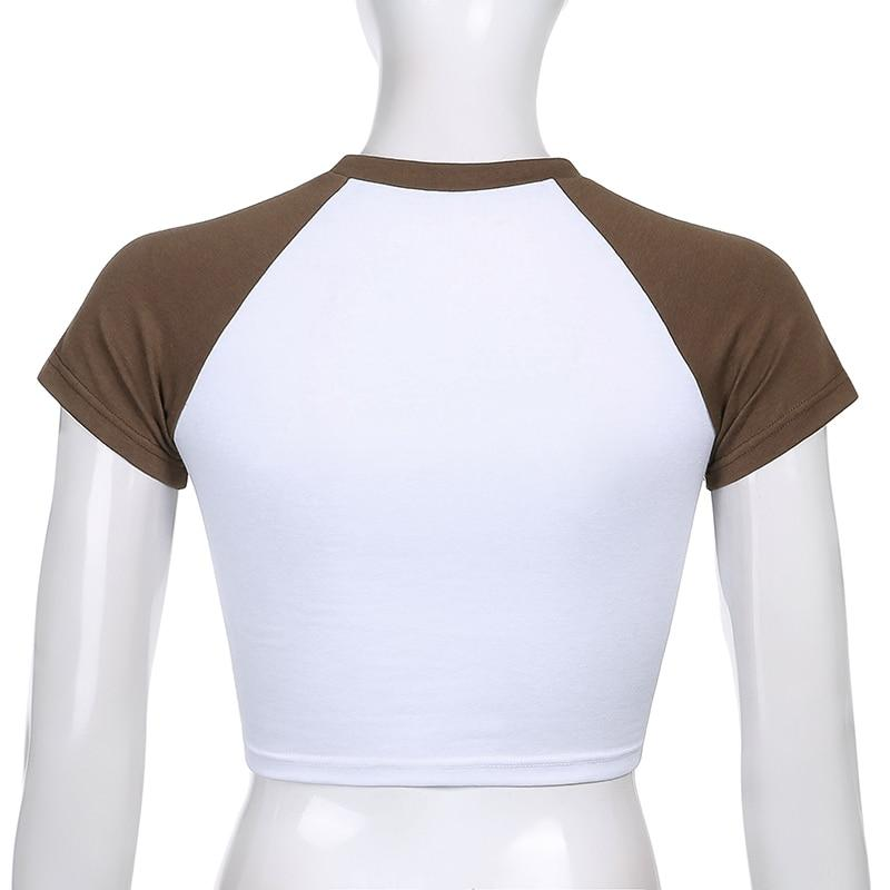 LEOPARD BROWN Y2K HEART CROP TOP