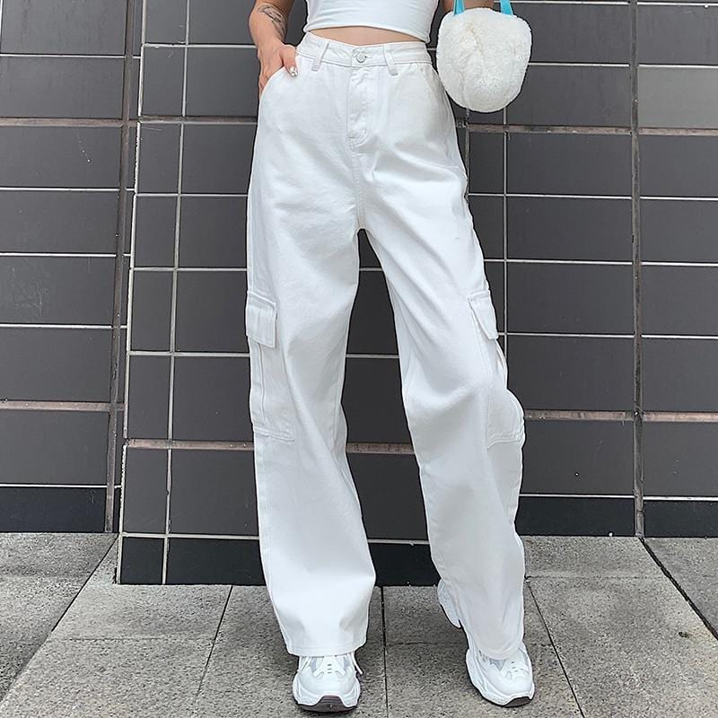 HIGH WAIST WHITE BABE JEANS