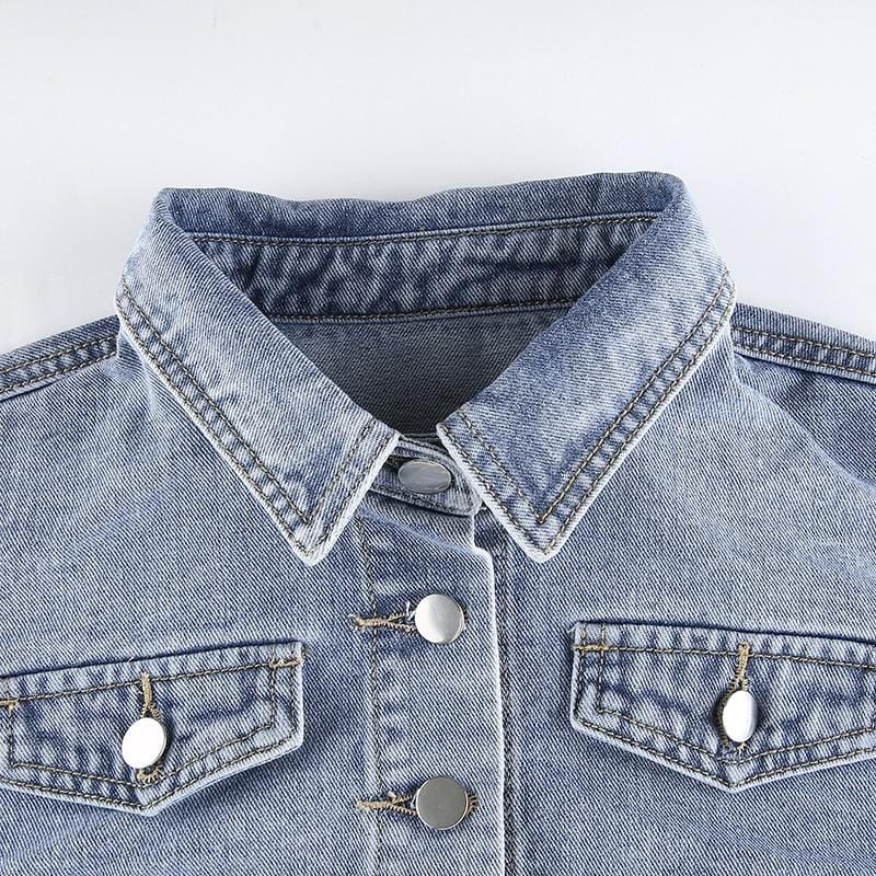 AXCID CROPPED DENIM JACKET